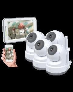 Baby Monitor Royale HD Babyfoon met 12,7 cm touchscreen en app - Met drie extra babyfoons (BC3000-4)