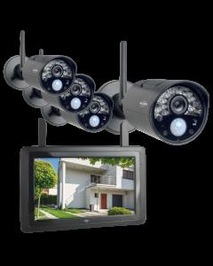 Draadloze Beveiligingscamera Set met 7 inch scherm en applicatie (CZ30RIPS-4)