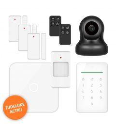 ELRO AS90S Home+ Slim Draadloos Alarmsysteem – Met extra camera en afstandsbediening (AS90S-Actieset)