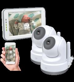 Baby Monitor Royale HD Babyfoon met 12,7 cm touchscreen en app - Met extra babyfoon (BC3000-2)