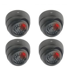 Indoor Dummy Dome Camera met Flash Light - 4 Pack (CDD17F)