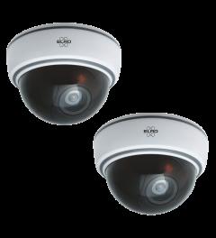 Indoor Dummy Dome Camera met Flash Light - 2 Pack (CDD15F)