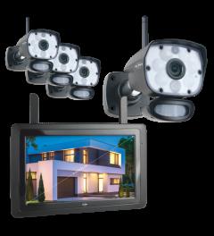 """Color Night Vision Überwachungskamera Set mit 9"""" Bildschirm und App (CZ60RIPS-4)"""