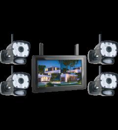 Color Night Vision Beveiligingscameraset met 9 inch scherm en applicatie (CZ60RIPS-4)