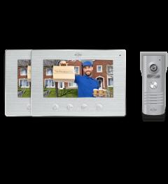 IP Wifi Deurintercom met 2 monitoren - Grijs - Laatste stuks! (DV50)
