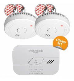 Fire prevention set - Smoke Detector with Magnet Assembly - 5 Year Battery & Carbon Monoxide Detector – 10 Year Sensor (FF1840)