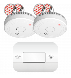 Brandpreventieset – 2x Rookmelders met 5 Jaar Batterij en Magneet Montage + Koolmonoxidemelder met 10 jaar sensor (FF1840)