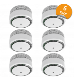 Smoke Detector Compact Design with 10 year battery - 6 Pack (FS8010)
