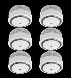 Rookmelder Compact Design 10 Jaar Batterij - Voldoet aan EN 14604 - 6 stuks (FS8010)