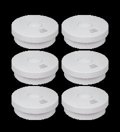 Rookmelder met 10 jaar batterij – Q-Label & VDS - 6 Pack (FS9010)
