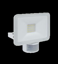Design LED Buitenlamp met Bewegingsmelder 10 Watt - Wit (LF5010P)