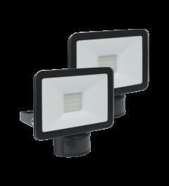 Design LED Außenleuchte mit Bewegungsmelder 10W – Schwarz (2-pack) (LF5010P)