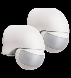 Bewegingsmelder – geschikt voor buiten- 200° - Wit (2-pack) (LP1520)