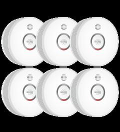 ELRO Pro Design rookmelder met automatische zelftest en 10 jaar batterij - 6 stuks (PS4910)
