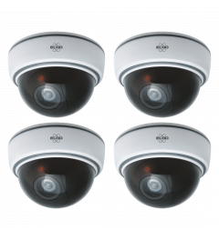 Indoor Dummy Dome Camera met Flash Light - 4 Pack (CDD15F)