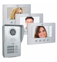 Video Deur Intercom - 3 Appartementen - Met 3 x 7 inch kleurenscherm (DV477W3)