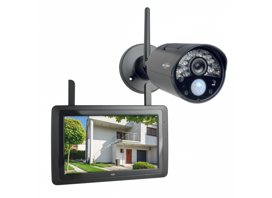 Wireless Security Camera Set With 7 Screen And App Cz30rips Elro