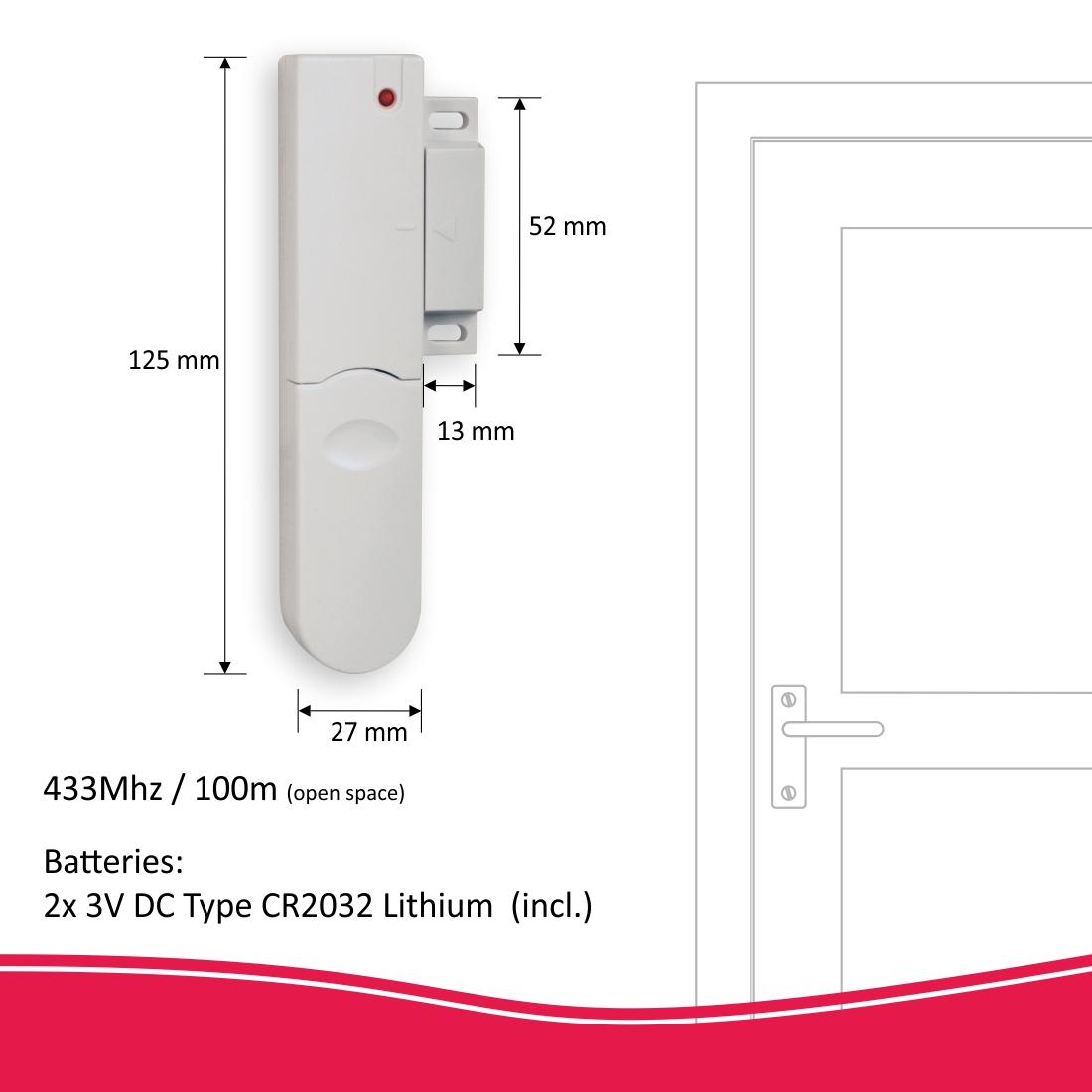 Pro alarmsysteem deur-raamcontact