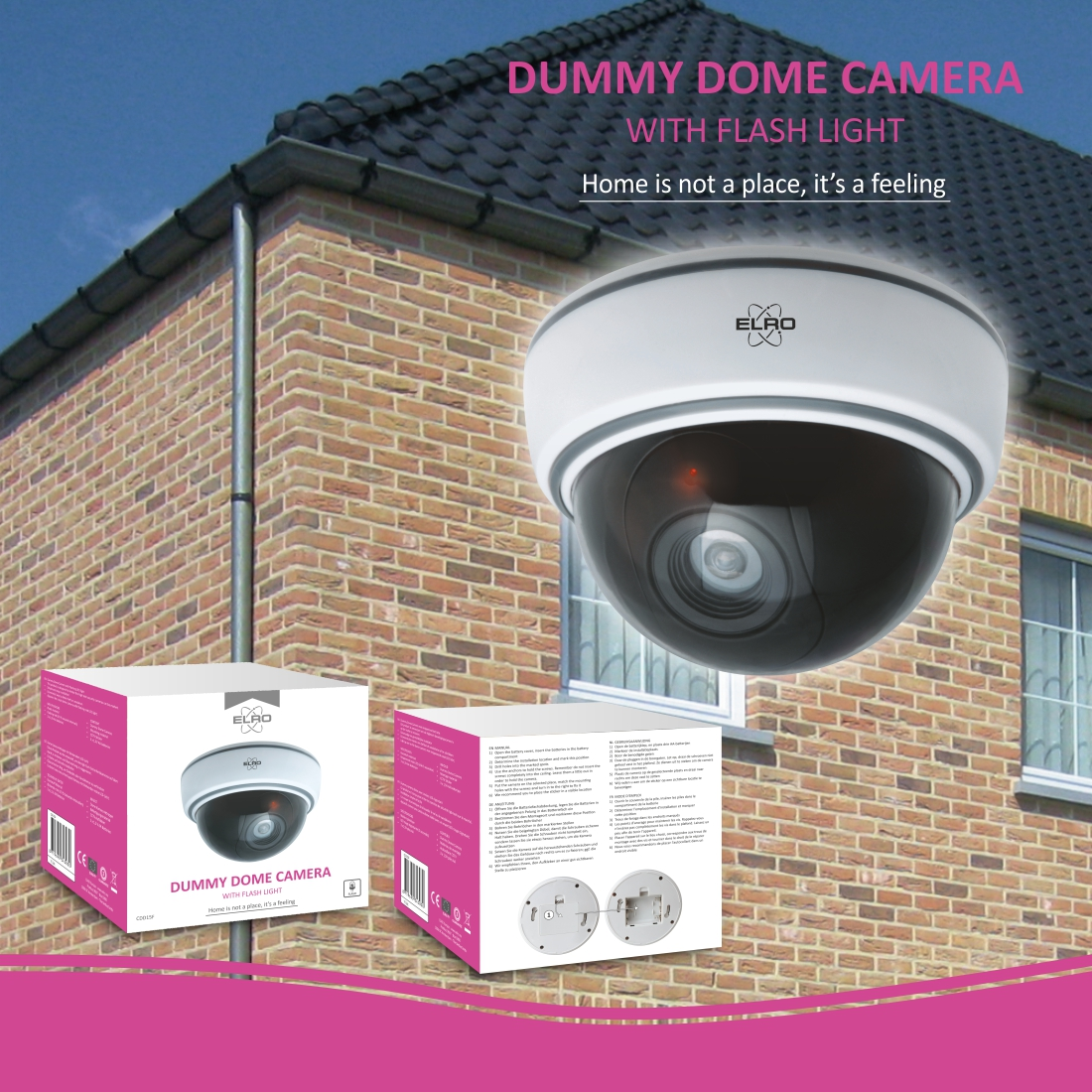 Indoor Dummy Dome camera met LED licht