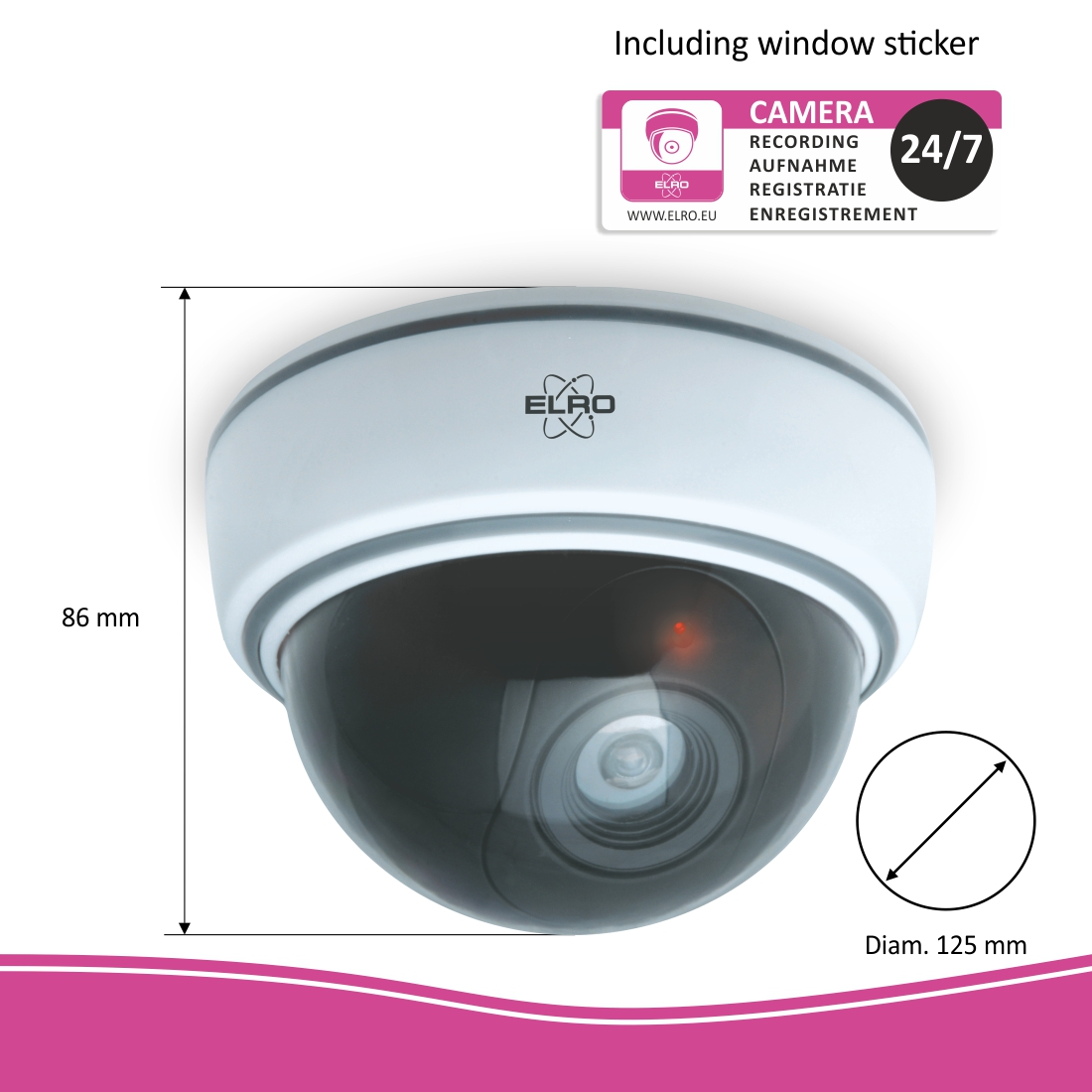 ELRO indoor dummy dome camera