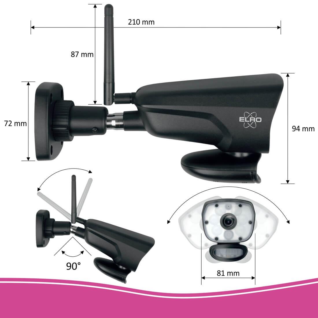 ELRO Color Night Vision IP camera installeren