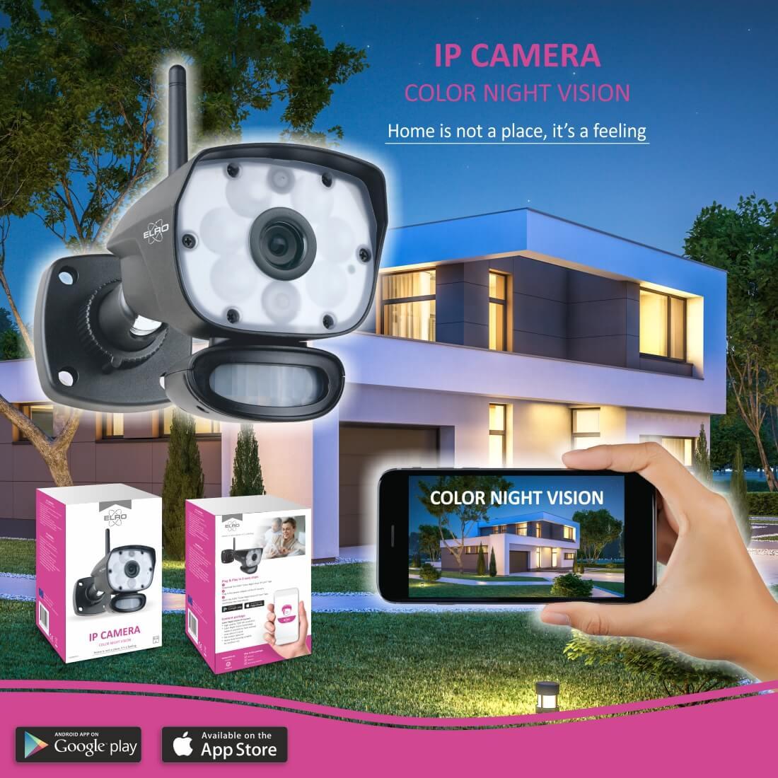 ELRO colour night vision camera