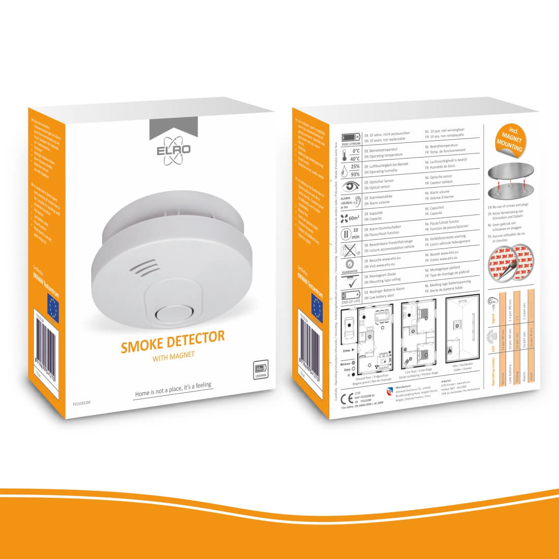 ELRO FS1510 rookmelder verpakking